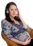 Bella donna incinta Fotografia Stock Libera da Diritti