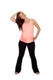 Bella donna incinta che fa allungamento Immagini Stock