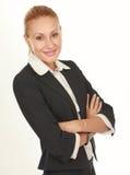Bella donna moderna di affari nell'ufficio Immagine Stock Libera da Diritti
