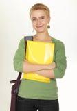 Bella donna moderna di affari nell'ufficio Fotografie Stock