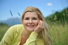 Bella donna naturale con pelle sana pura Fotografia Stock
