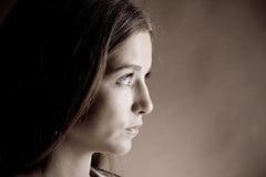 Bella donna nel suspense Fotografia Stock Libera da Diritti