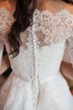 Bella donna nell'immagine della sposa fotografia stock