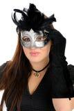 Bella donna nella mascherina di carnevale del partito. Immagine Stock