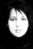 Bella donna, occhi verdi immagini stock