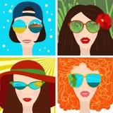 Bella donna in occhiali da sole Fotografia Stock