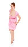 Bella donna a piedi nudi Immagine Stock