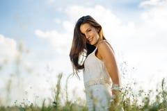Bella donna senza allergia del polline Fotografie Stock Libere da Diritti