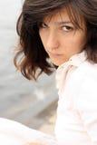 Bella donna seria Fotografie Stock Libere da Diritti