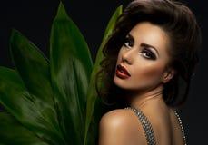 Bella donna sexy del brunette Immagini Stock Libere da Diritti
