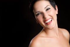 Bella donna sorridente Fotografia Stock