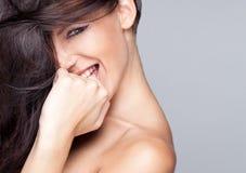 Bella donna sorridente Immagine Stock Libera da Diritti