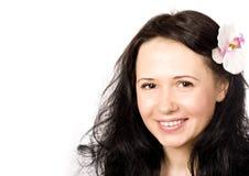 Bella donna sorridente Immagine Stock
