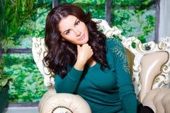 Bella donna in stazione termale Fotografia Stock