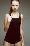 Bella donna in undrewear del cotone Fotografie Stock Libere da Diritti