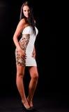 Bella donna in vestito dal colorfull Fotografie Stock