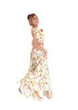 Bella donna in vestito lungo Fotografia Stock Libera da Diritti