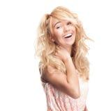 Bella e giovane donna felice. immagini stock libere da diritti