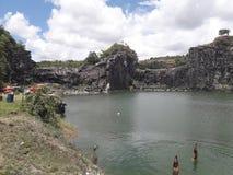 Bella e laguna blu naturale in Recife, Brasile immagini stock