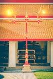 Bella e posta classica della lampada di arte in tempio tailandese Wat Mahatha Fotografia Stock Libera da Diritti
