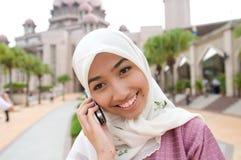 Bella e signora musulmana malese asiatica dolce Fotografia Stock