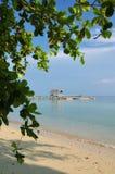 Bella e spiaggia naturale pura Fotografia Stock Libera da Diritti