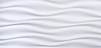 Bella e superficie bianca della parete sotto forma di onde Immagini Stock