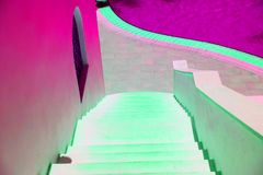 Bella ed architettura contrapposta livello Fondo urbano della geometria Architettura moderna immagini stock