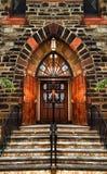 Bella entrata della chiesa Fotografia Stock