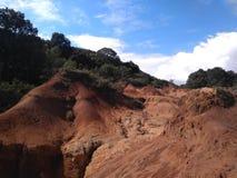 bella erosione sulla montagna Fotografia Stock