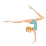 Bella esecuzione relativa alla ginnastica della ragazza Fotografia Stock