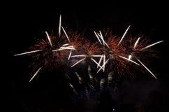 Bella esplosione dei fuochi d'artificio Immagini Stock Libere da Diritti