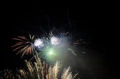 Bella esplosione dei fuochi d'artificio Immagine Stock Libera da Diritti