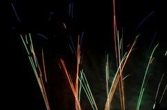 Bella esplosione dei fuochi d'artificio Immagini Stock