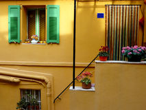 Bella facciata arancione Fotografia Stock