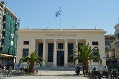 Bella facciata principale del teatro di Volos Viaggio di storia di architettura fotografie stock