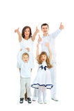 Bella famiglia felice Fotografie Stock Libere da Diritti