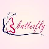 Bella farfalla della siluetta Fotografia Stock