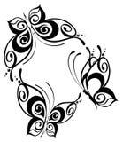 bella farfalla per un disegno Immagine Stock