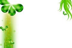 bella farfalla verde, fondo del abstrack Fotografia Stock