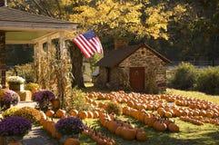 Bella fattoria in autunno Immagine Stock
