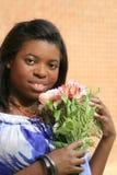 Bella femmina dell'afroamericano Immagini Stock