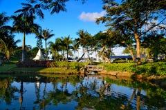 Bella festa sull'isola di Saipan Fotografia Stock