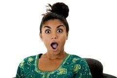 Bella fine asiatica teenager del modello su con un'espressione sorpresa Fotografie Stock Libere da Diritti