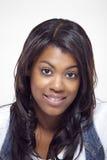 Bella fine etnica della donna sul ritratto Fotografia Stock