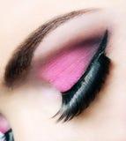 Bella fine rosa di trucco su Immagine Stock