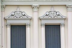 Bella finestra al grande palazzo, Bangkok. immagini stock libere da diritti