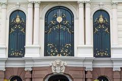 Bella finestra al grande palazzo, Bangkok. immagini stock