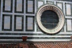 Bella finestra del cerchio fotografia stock