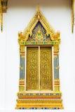 Bella finestra del tempiale buddhistic immagine stock libera da diritti